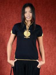 Shirt Ying zwart - goud