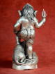 Ganesha staand met grote rat brons vernikkeld
