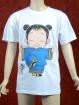 Blauw Kung Fu T-shirt  voor kinderen