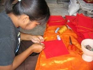 Kleding monniken nagemaakt